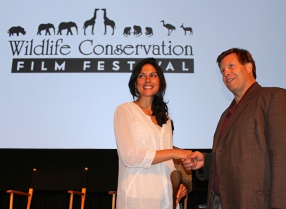 Danielle accepting an award from Christopher Gervais, WCFF President ©Robin Erler