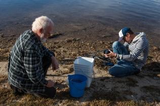 Fisherman, Sean Burke, being filmed by James Sherwood ©Danielle Ryan Sept:Aug 2014