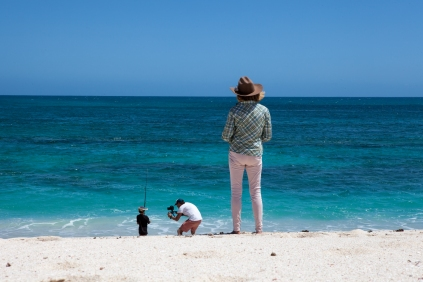 Nolan fishing with cameraman, James, & his grandmother - Warroora Station © Danielle Ryan - Bluebottle Films Oct 2014