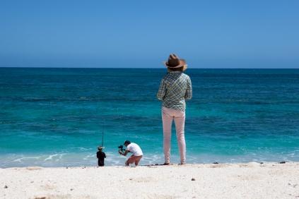 Nolan fishing with cameraman, James, & his grandmother - Warroora Station © Danielle Ryan - Bluebottle Films Oct 2014