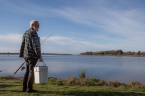 Fisherman Sean Burke at Wallaga Lake, a part of the Batemans Marine Park © Danielle Ryan - Bluebottle Films