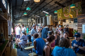 Inside the Stone & Wood Brewery at the Byron Bay film screening © James Sherwood - Bluebottle Films