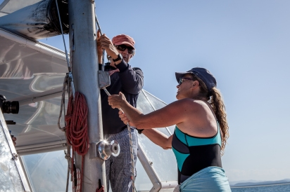 Yacht owners Anthony and Ginny, Keppel Islands © Danielle Ryan - Bluebottle Films