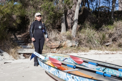 Jervis Bay Dive Shop Owner, Sue Newson - Crest Diving © Danielle Ryan Sept:Aug 2014