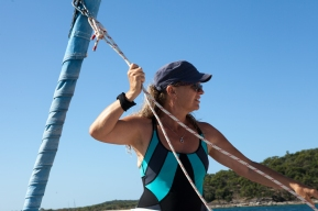 Yacht owner and tour operator, Ginny Gerlach, Yeppoon © Danielle Ryan - Bluebottle Films